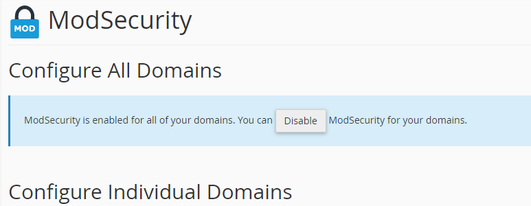 Config domains cPanel
